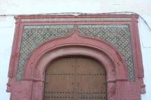 Mozarab door frame on a church in Salobrena