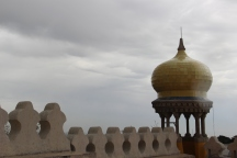 The Persian-Islamic onion dome where it is easy to imagine a Moorish princess standing