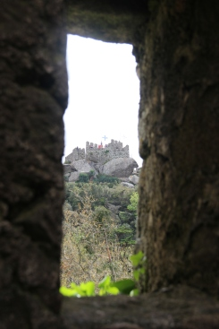Looking at the Royal tower from the castle's Keep